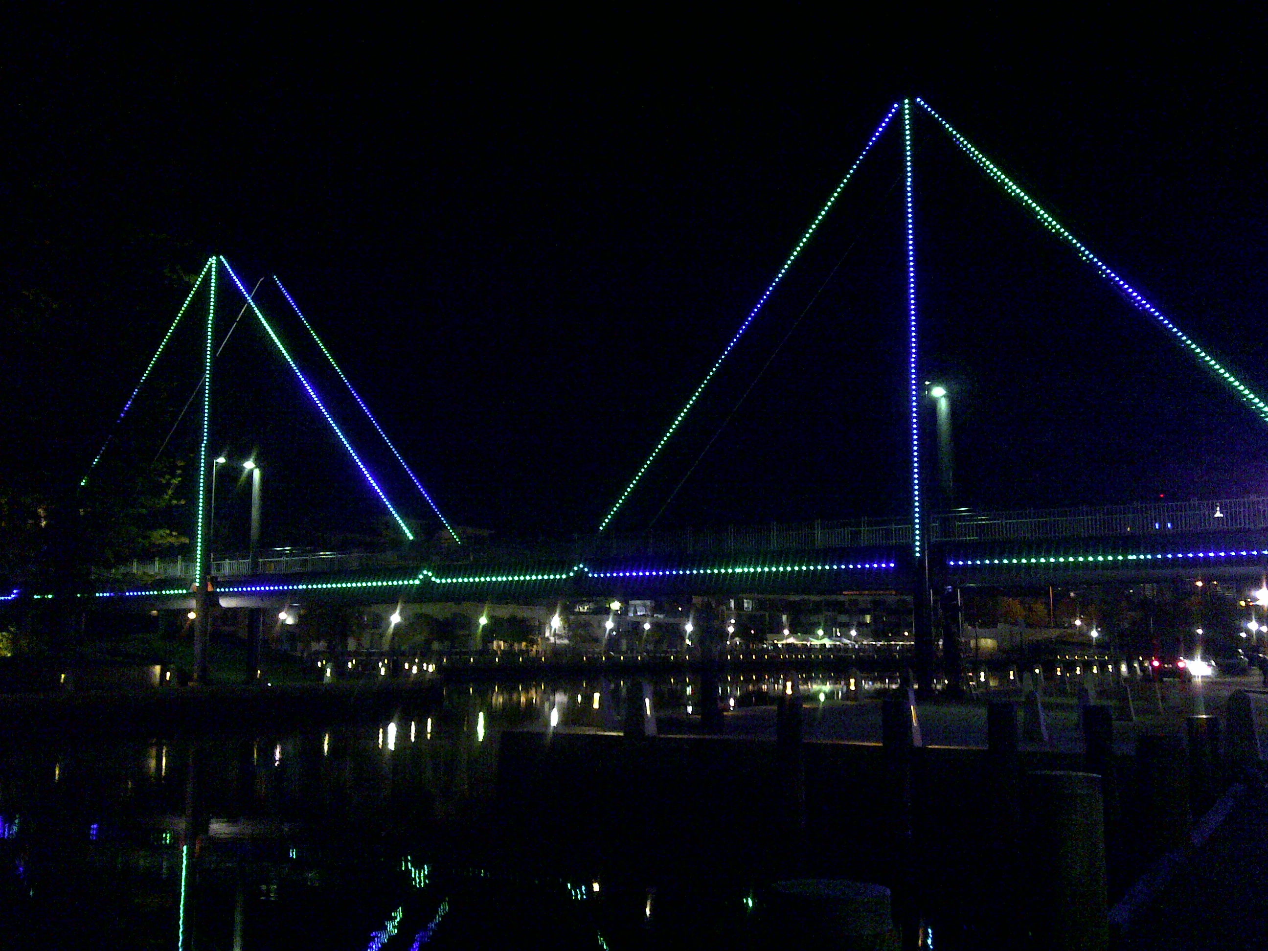 Trafalgar Bridge Lighting Installation - City of Perth
